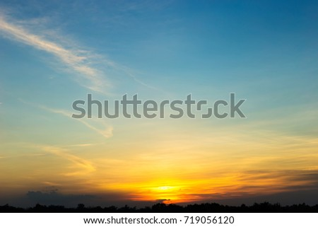 Beautiful Sunset sky #719056120