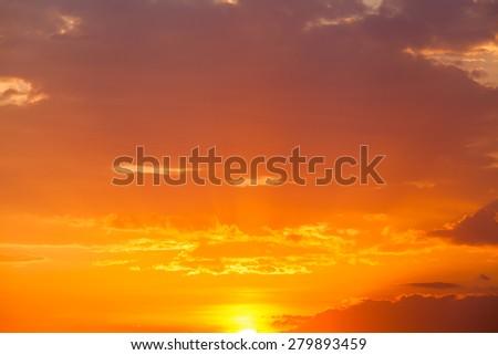 Beautiful sunset sky. Sky Background.