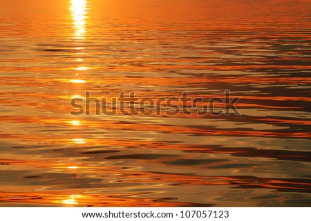 beautiful sunset water background