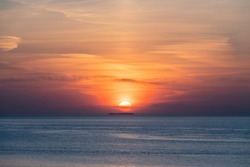 Beautiful sunsets on the North Sea
