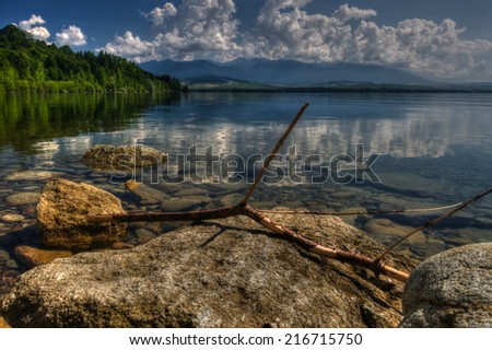 Shutterstock Beautiful sunshine montains and lake scenery