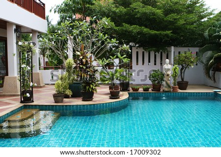 Swimming Pool In Beautiful Sce Royalty Free Stock Photos Image