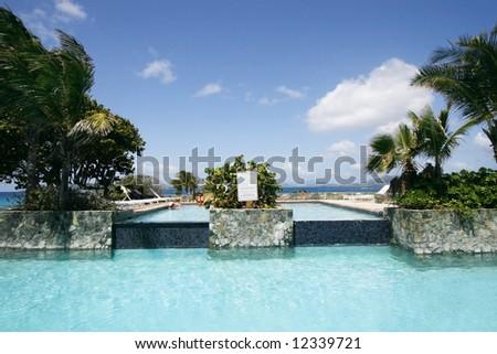 beautiful swimming pool near beach