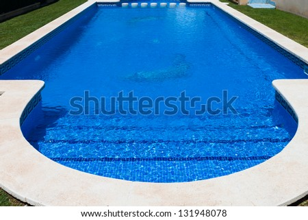 beautiful swimming pool with blue water