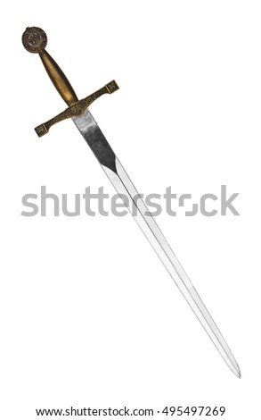 Beautiful sword isolated on a white background #495497269
