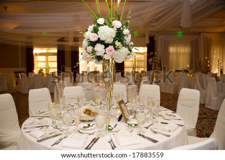 Beautiful Table Decorated for Wedding