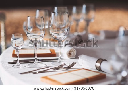 Beautiful table set #317356370
