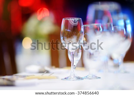 Beautiful Table Set For Some Festive Event Party Or Wedding