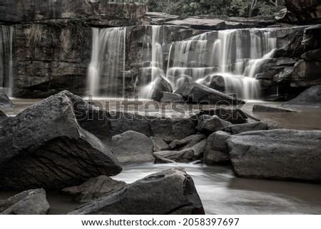 Beautiful Tat Ton Waterfall is a landmark of Tat Ton National Park, Chaiyaphum Province, Thailand. Selective focus. Photo stock ©