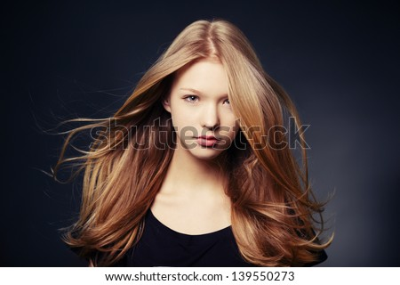 beautiful teen girl portrait