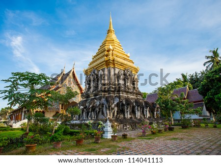 Beautiful temple in Chiang Mai. Thailand.