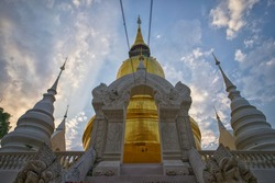 beautiful temple in chiengmai from the north of thailand