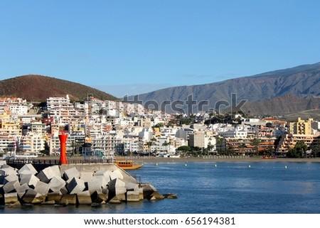 Beautiful Tenerife coastline in autumn #656194381