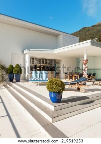 beautiful terrace of a penthouse, outside #219519253