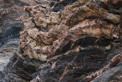 Beautiful texture of natural rock formations at the beach.