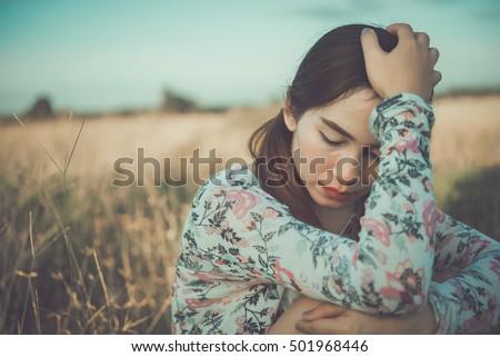 beautiful thai woman very sad...