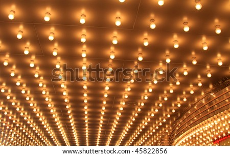 Beautiful theater lights bring joy to the patrons