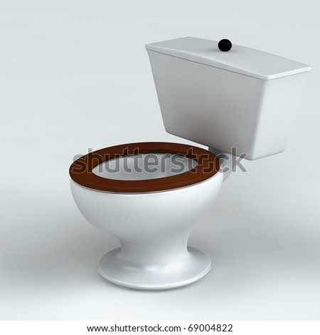 Beautiful toilet isolated on white 3d rendered