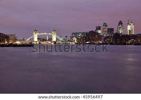 Beautiful Tower Bridge in London in panoramic view