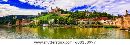 Beautiful towns and places of Germany - picturesque Wurzburg, northen Bavaria #688158997