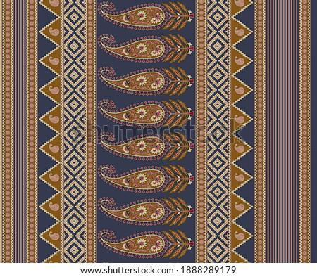 Beautiful Traditional Paisley Indian motif