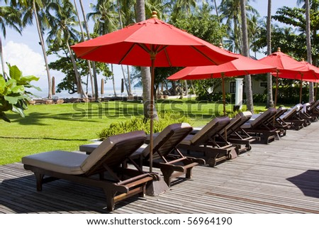Beautiful tropical beach at island Koh Chang , Thailand. #56964190