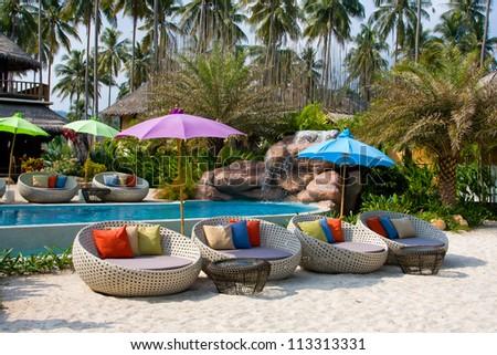 Beautiful tropical beach at island Koh Kood , Thailand .