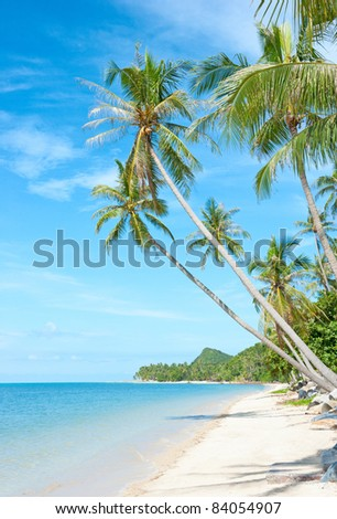 Beautiful tropical beach at Seychelles - vacation background