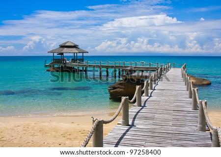 Beautiful tropical beach in Koh Kood , Thailand - stock photo