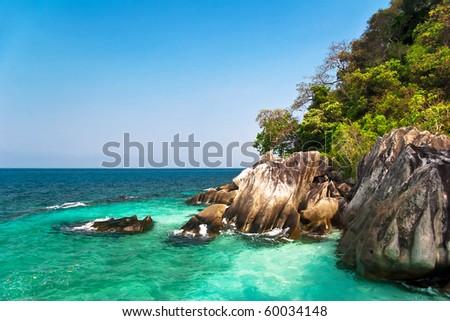 Beautiful tropical beach. Malaysia