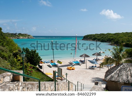 beautiful tropical beach on Long Bay, Antigua