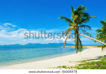 Beautiful Tropical beach vacation background