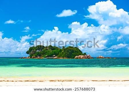 Beautiful tropical island at Seychelles #257688073