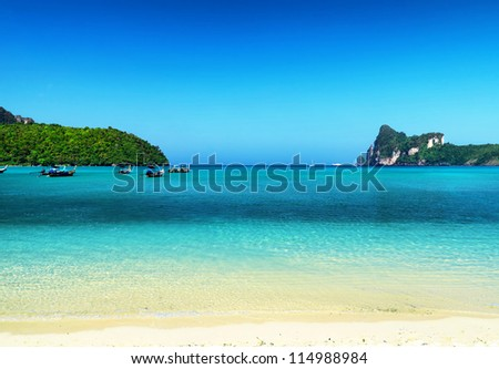 Beautiful tropical landscape. Phi-Phi Island, Thailand.