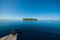 Beautiful tropical Maldives resort hotel and island with beach and sea...