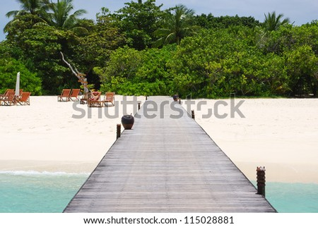 Beautiful tropical Maldivian island in Indian ocean