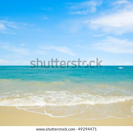 Beautiful tropical seascape. Sunny day.