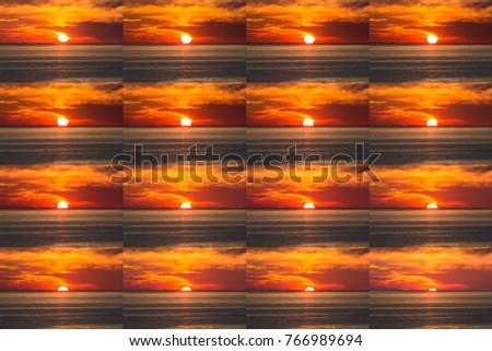 Stock Photo Beautiful tropical sunset time lapse views over the Andaman sea, Naithon Beach, Phuket, Thailand.