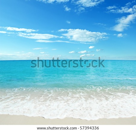 Beautiful tropical white sand beach.