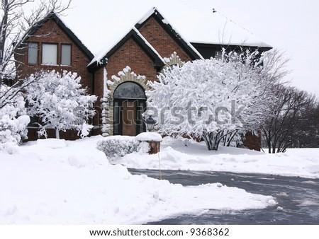 Beautiful tudor and brick home