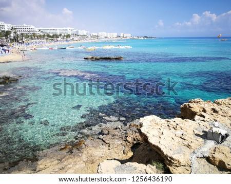 Beautiful turquoise sea #1256436190