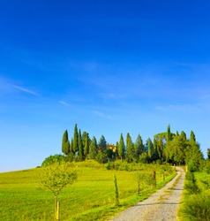 Beautiful Tuscany panorama, in the Chianti area, Italy.