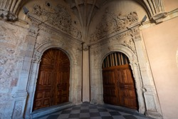 Beautiful twin doors with ornate decoration