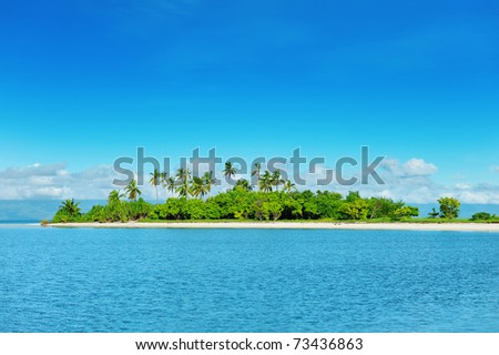 Beautiful uninhabited island at Philippines