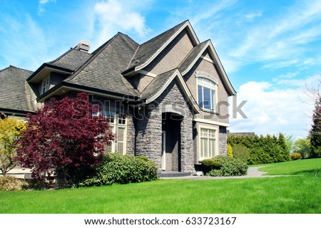 Beautiful upscale house in a Canadian neighborhood. #633723167