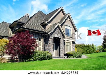 Beautiful upscale house in a Canadian neighborhood.