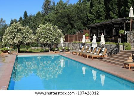 Beautiful upscale swimming pool in California