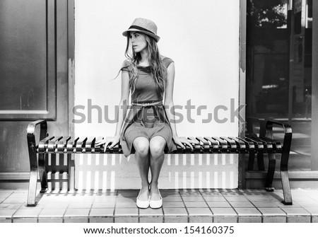Beautiful urban woman, girl