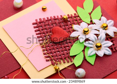 Beautiful Valentines Greeting Card