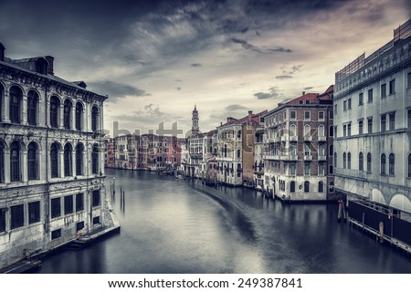 beautiful venice cityscape ...